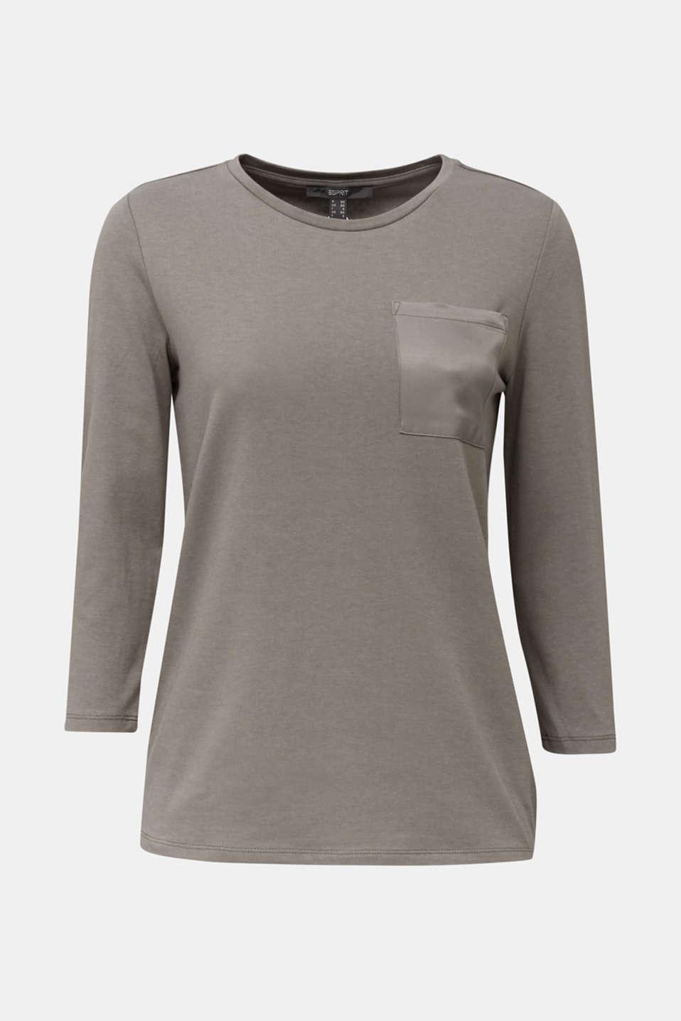 Top with a satin pocket, GUNMETAL, detail image number 5