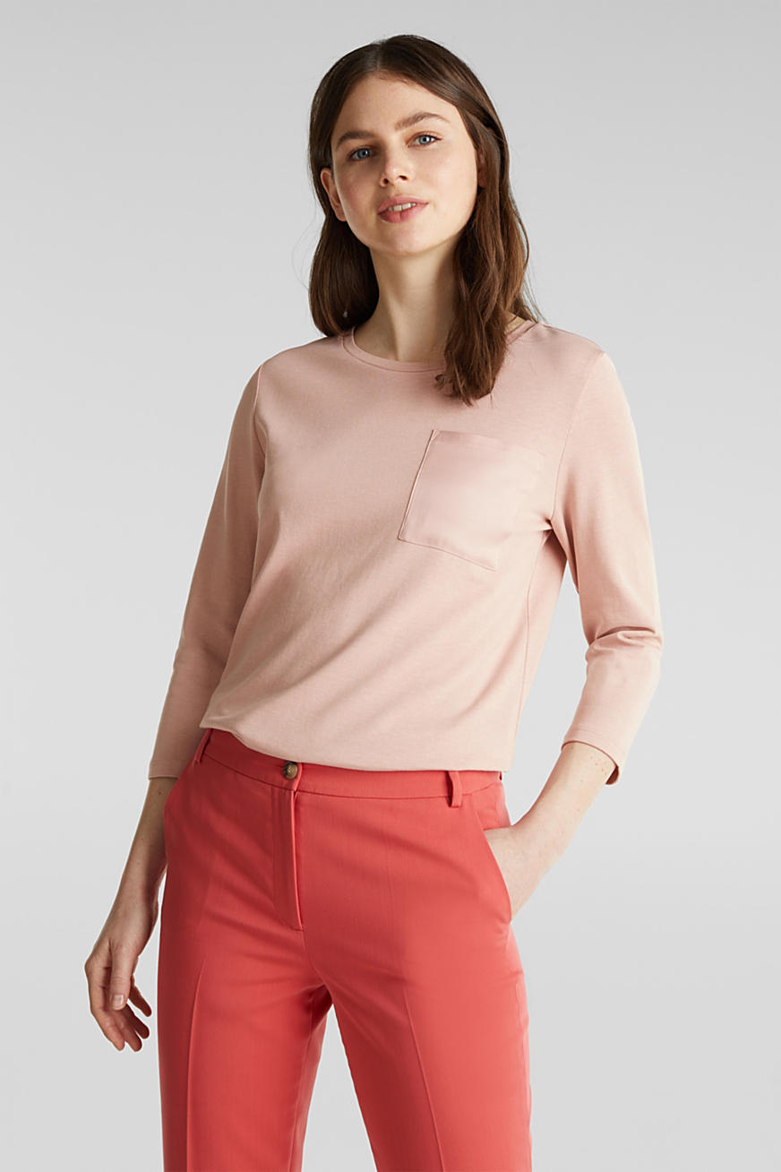Top with a satin pocket