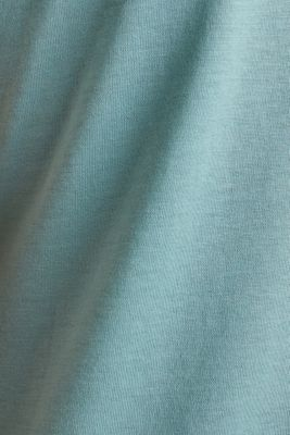Basic top with satin trim, DUSTY GREEN, detail