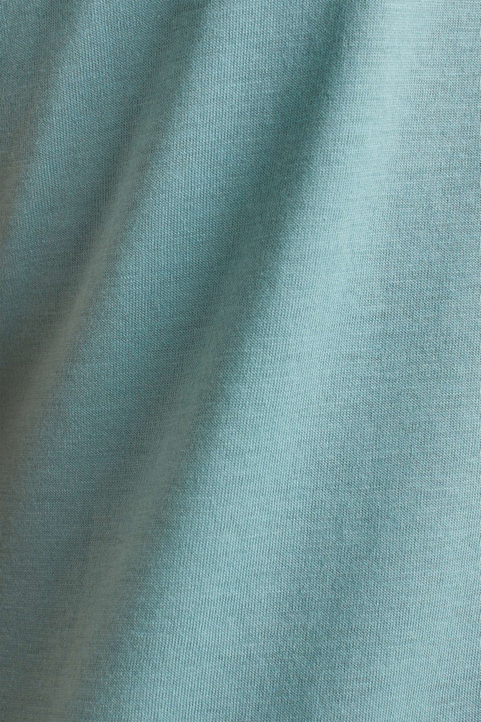 Basic top with satin trim, DUSTY GREEN, detail image number 4