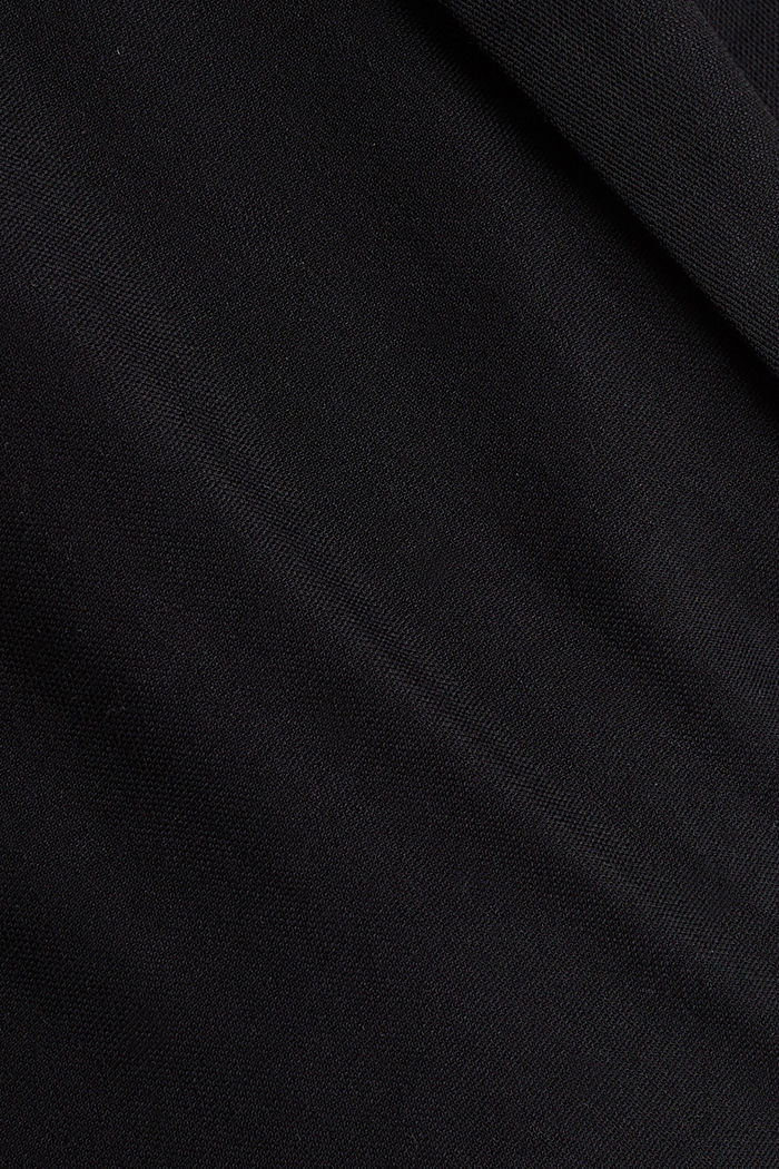 Jersey jumpsuit with a shawl collar, BLACK, detail image number 4