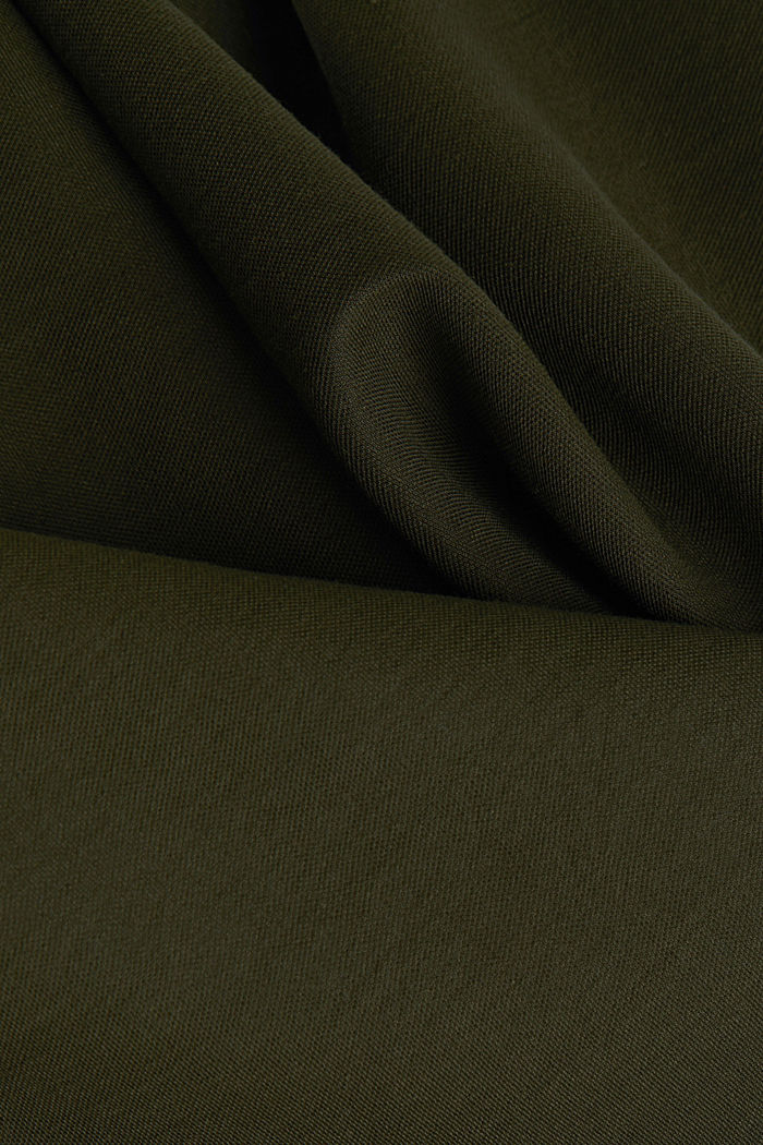 Jersey jumpsuit with a shawl collar, KHAKI GREEN, detail image number 4
