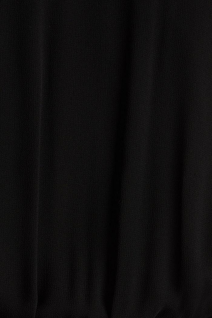 Jumpsuit aus Crêpe und Chiffon, BLACK, detail image number 4