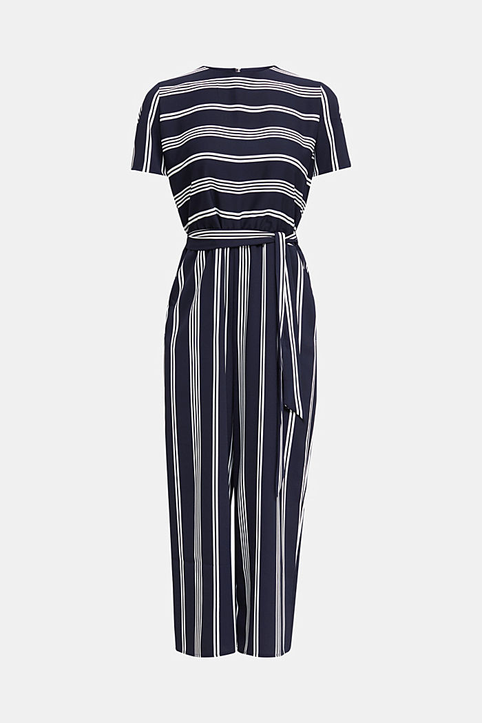 Recycelt: Jumpsuit mit Culotte, NAVY, detail image number 6