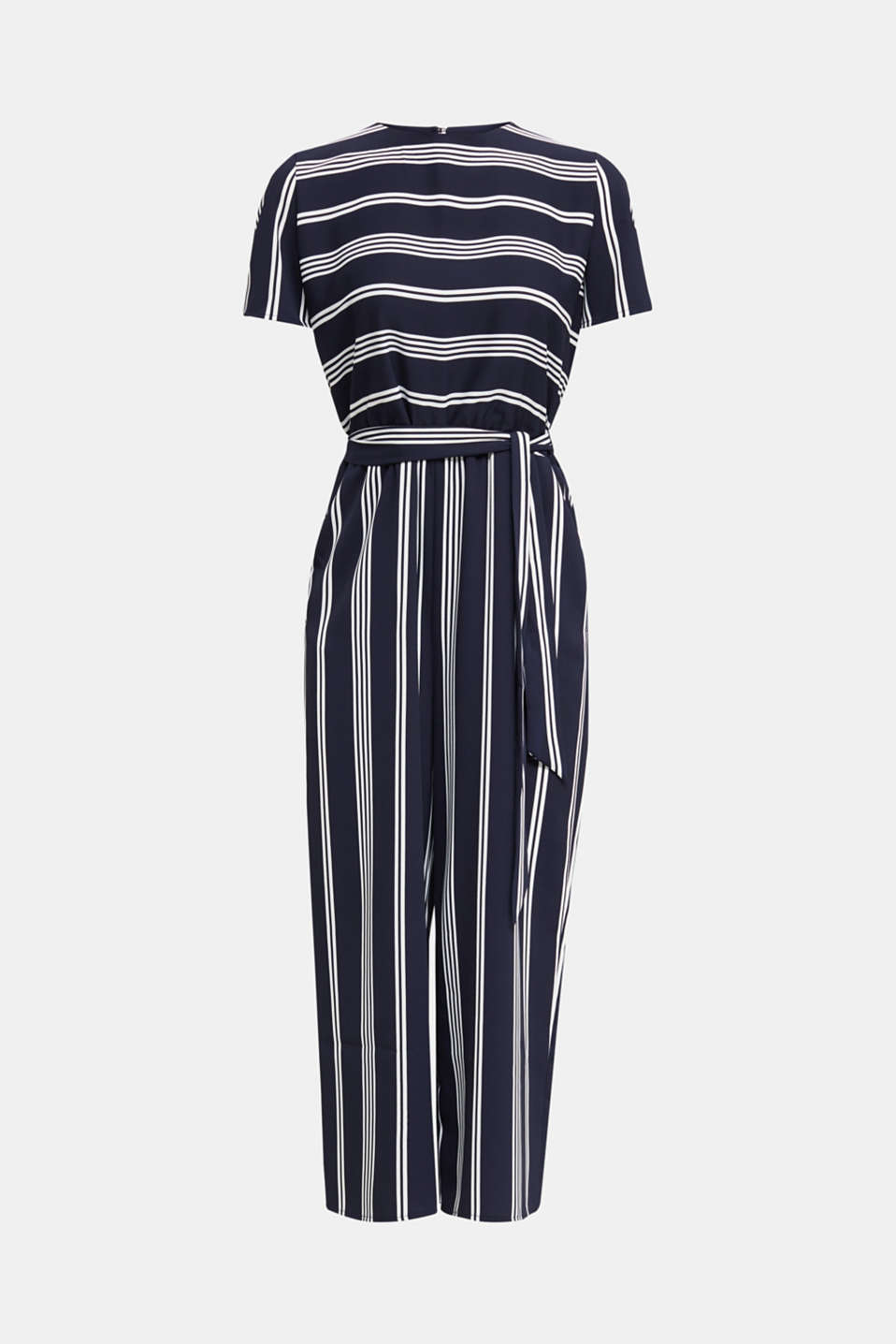 Recycled: Jumpsuit with culottes, NAVY 2, detail image number 6