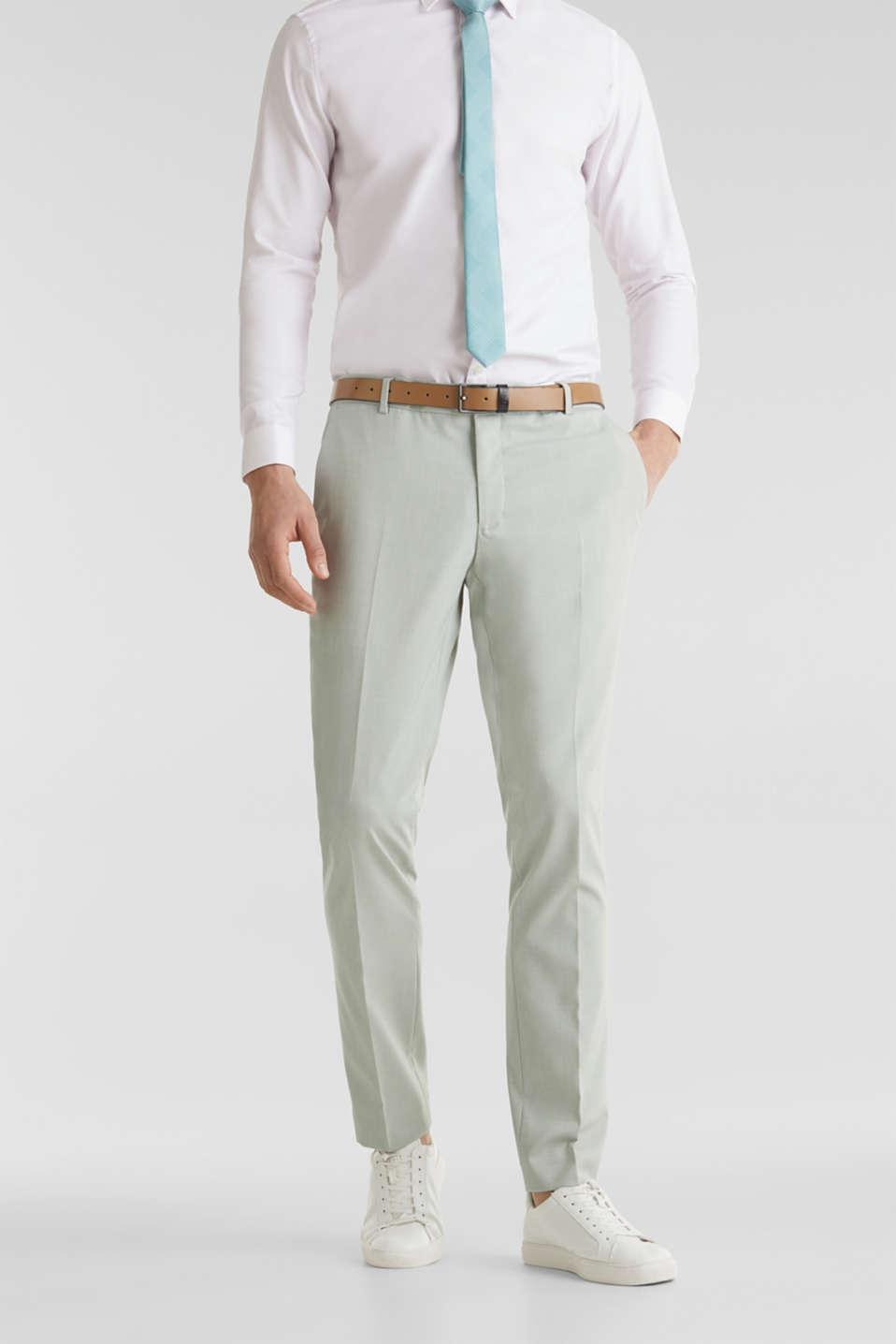 FINE MELANGE mix + match trousers, PASTEL GREEN 5, detail image number 0