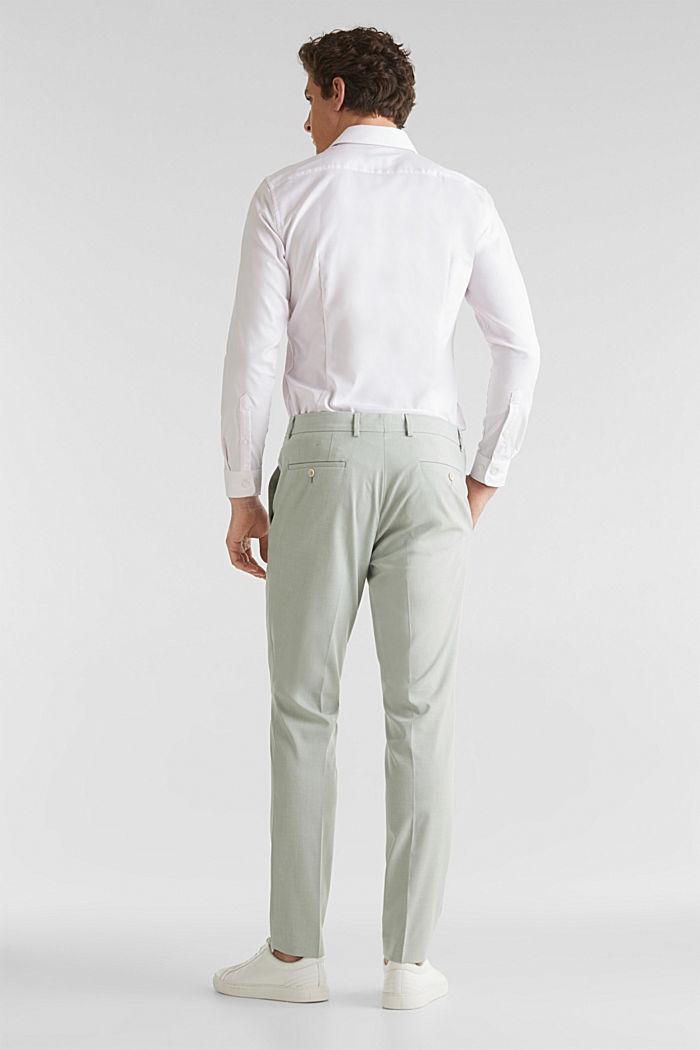 FINE MELANGE mix + match trousers, PASTEL GREEN, detail image number 1