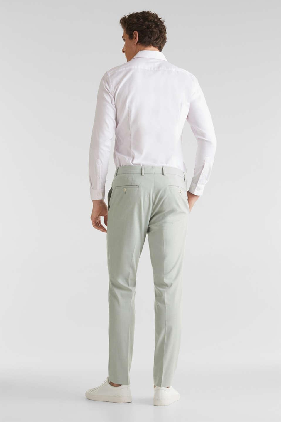 FINE MELANGE mix + match trousers, PASTEL GREEN 5, detail image number 1