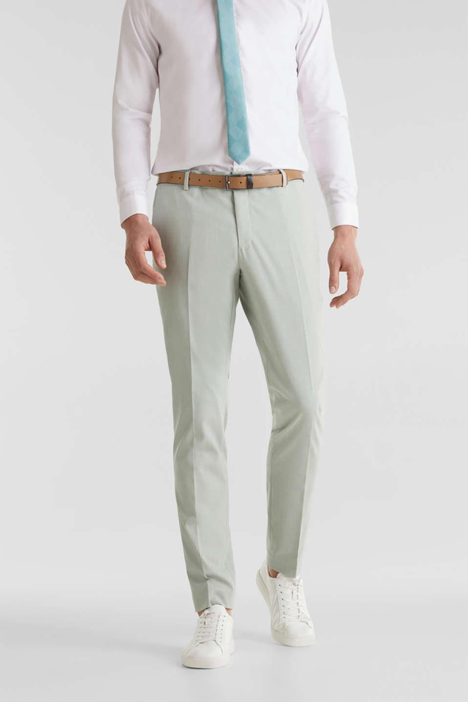 FINE MELANGE mix + match trousers, PASTEL GREEN 5, detail image number 4