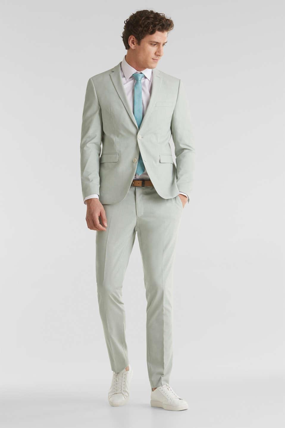 FINE MELANGE mix + match trousers, PASTEL GREEN 5, detail image number 2