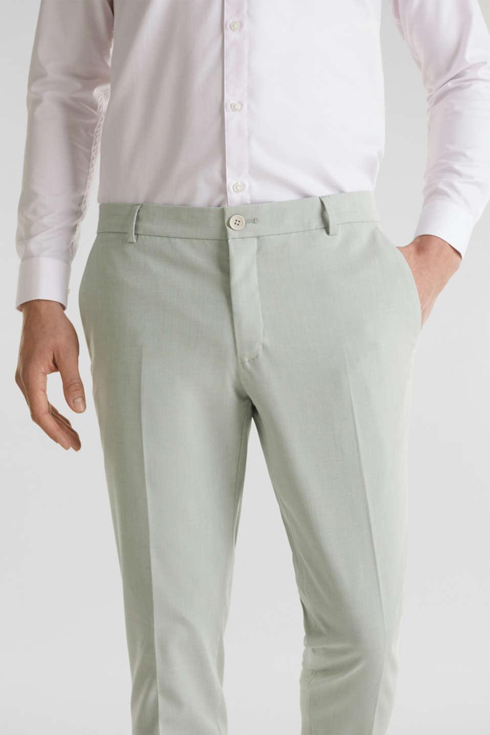 FINE MELANGE mix + match trousers, PASTEL GREEN 5, detail image number 3