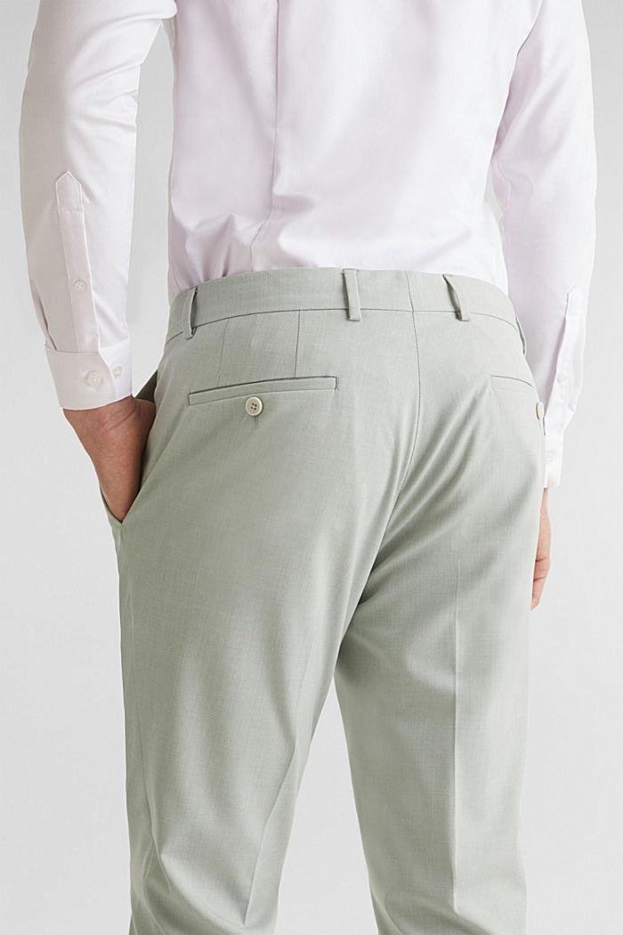 FINE MELANGE mix + match trousers, PASTEL GREEN, detail image number 6