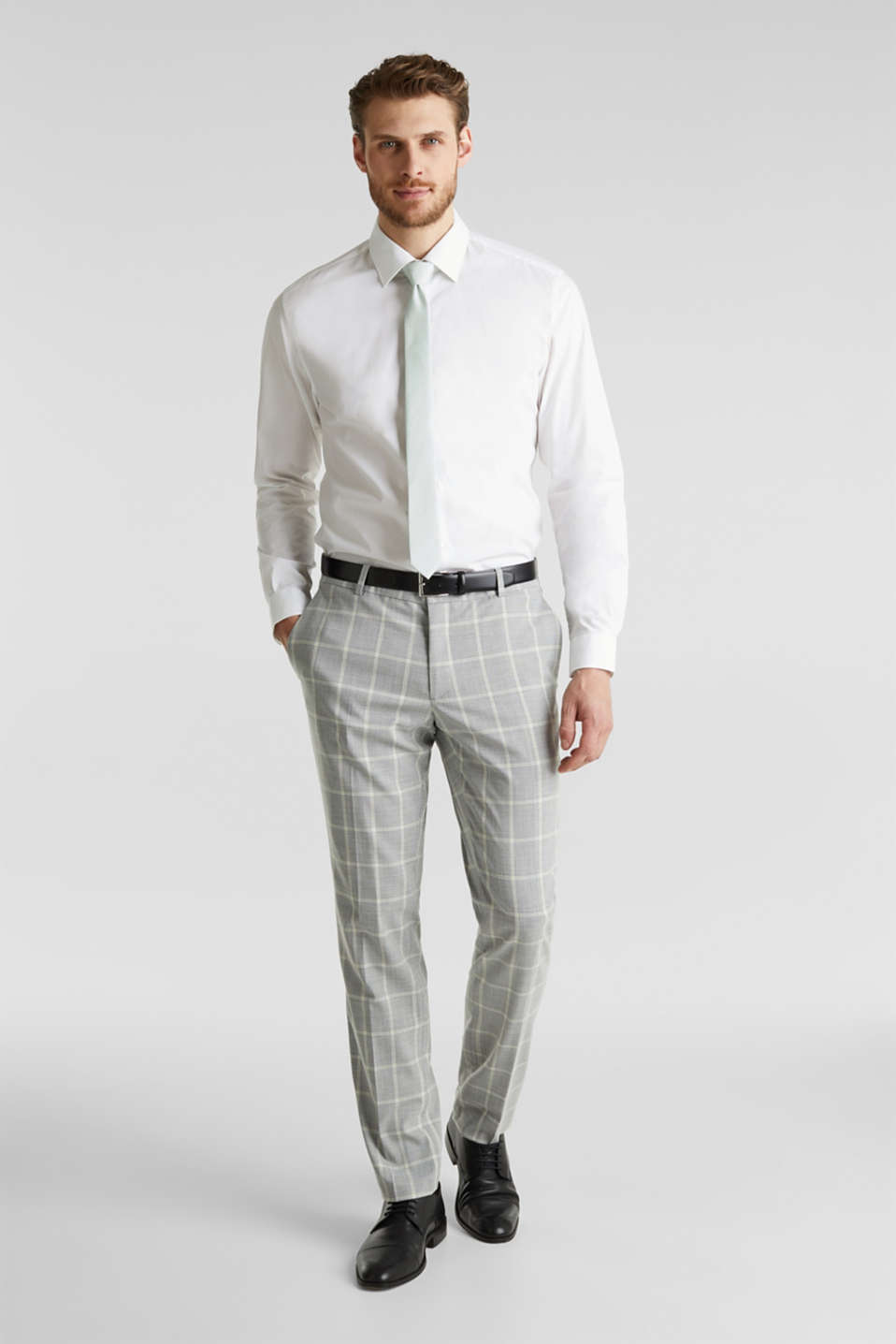 SUMMER CHECK mix + match trousers, PASTEL GREEN 3, detail image number 4
