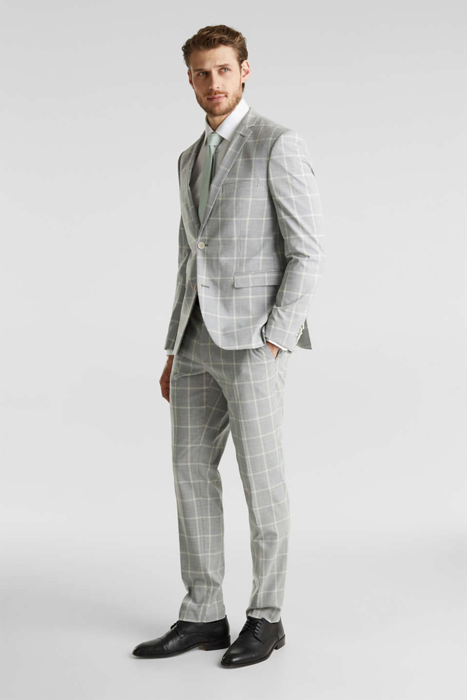 SUMMER CHECK mix + match trousers, PASTEL GREEN 3, detail image number 2