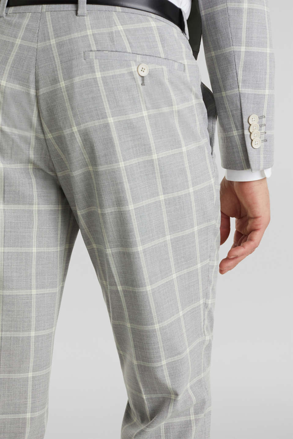 SUMMER CHECK mix + match trousers, PASTEL GREEN 3, detail image number 3