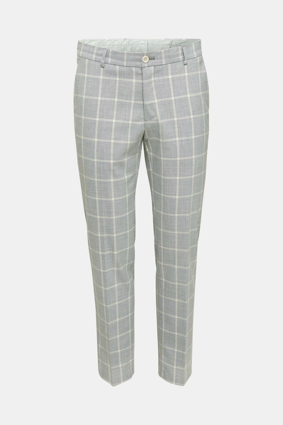 SUMMER CHECK mix + match trousers, PASTEL GREEN 3, detail image number 6