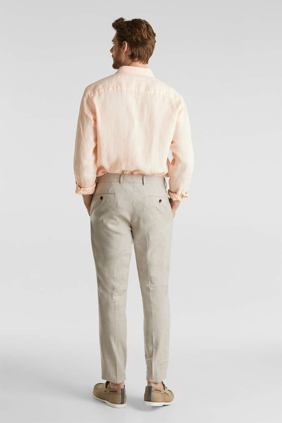 End-on-end linen blend trousers, SAND 5, detail image number 1