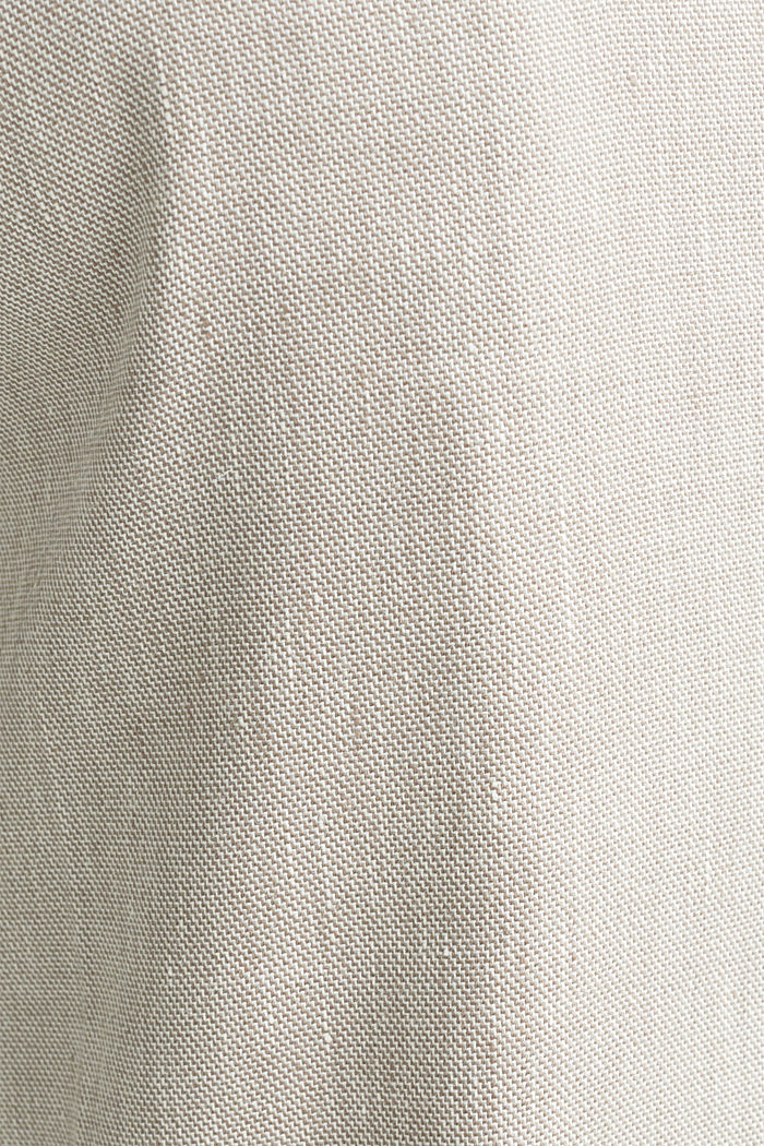 End-on-end linen blend trousers, SAND, detail image number 4