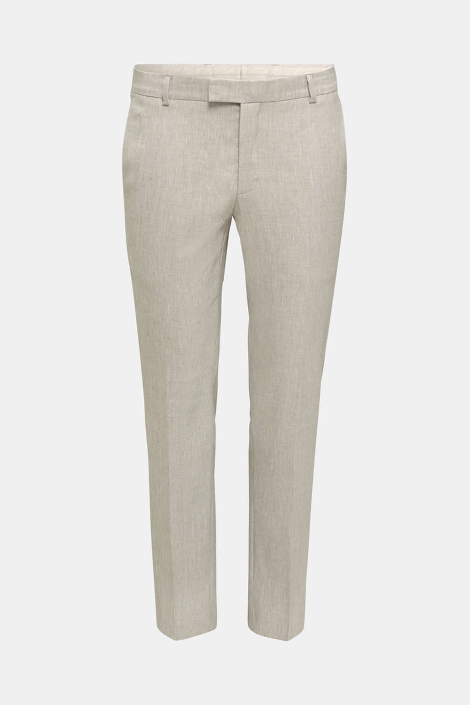End-on-end linen blend trousers, SAND 5, detail image number 5