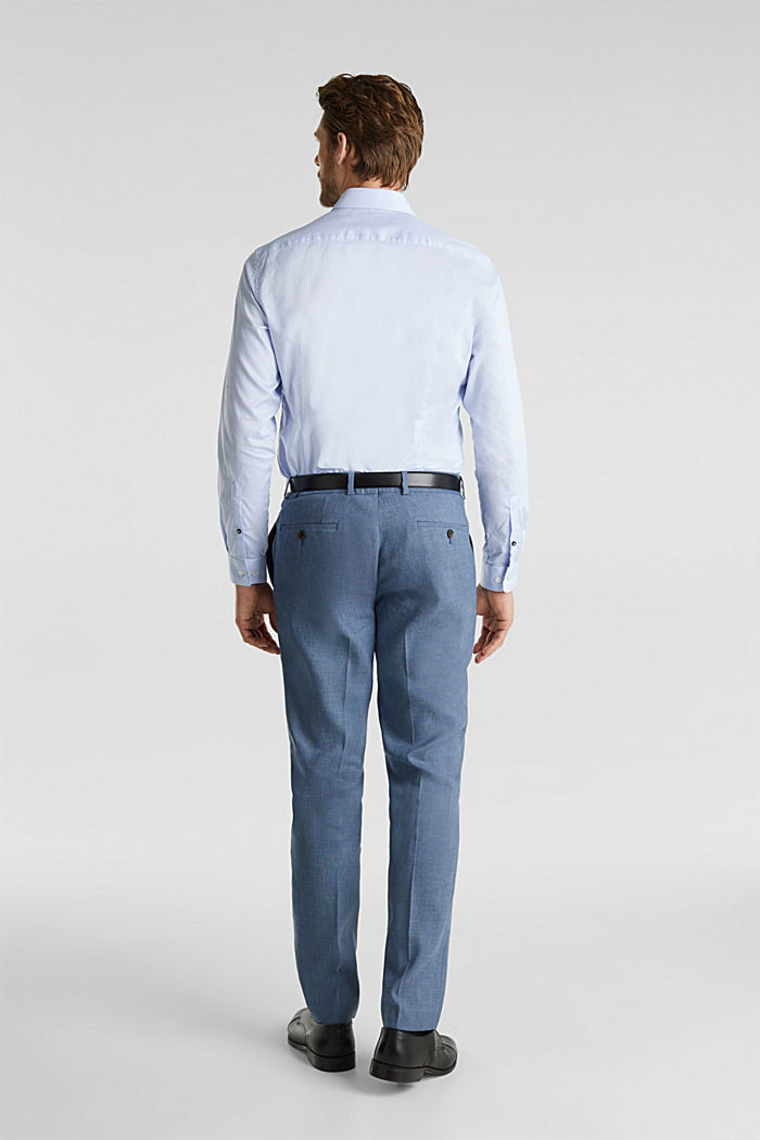 End-on-end linen blend trousers, BLUE, detail image number 1