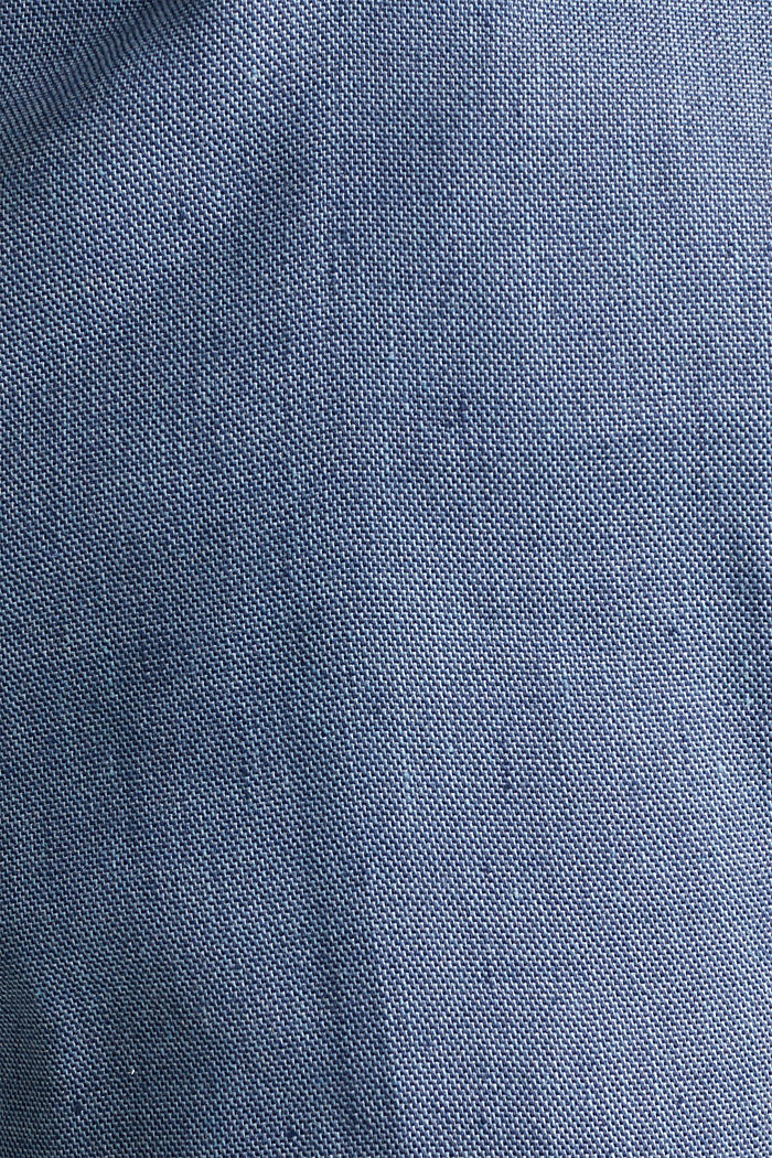 End-on-end linen blend trousers, BLUE, detail image number 4