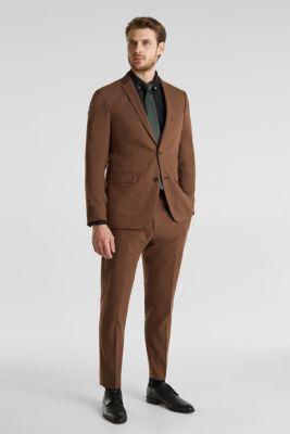 LINEN made of blended linen: mix + match trousers, BROWN, detail