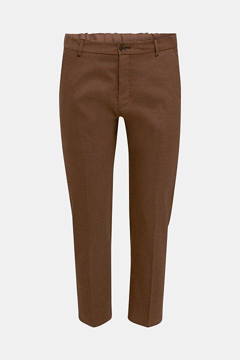 LINEN made of blended linen: mix + match trousers
