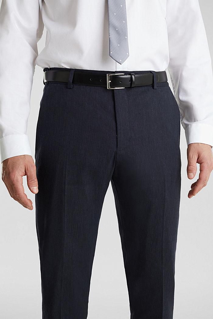 LINEN Pellavasekoitetta: Mix + Match housut, DARK BLUE, detail image number 3