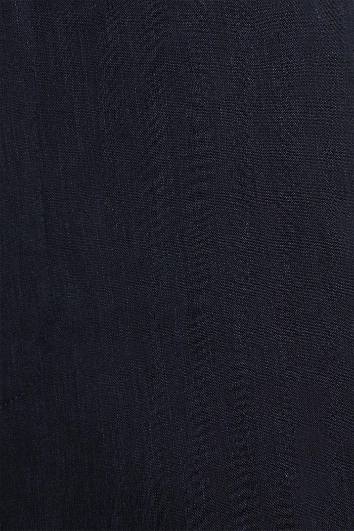 LINEN Pellavasekoitetta: Mix + Match housut, DARK BLUE, detail image number 5