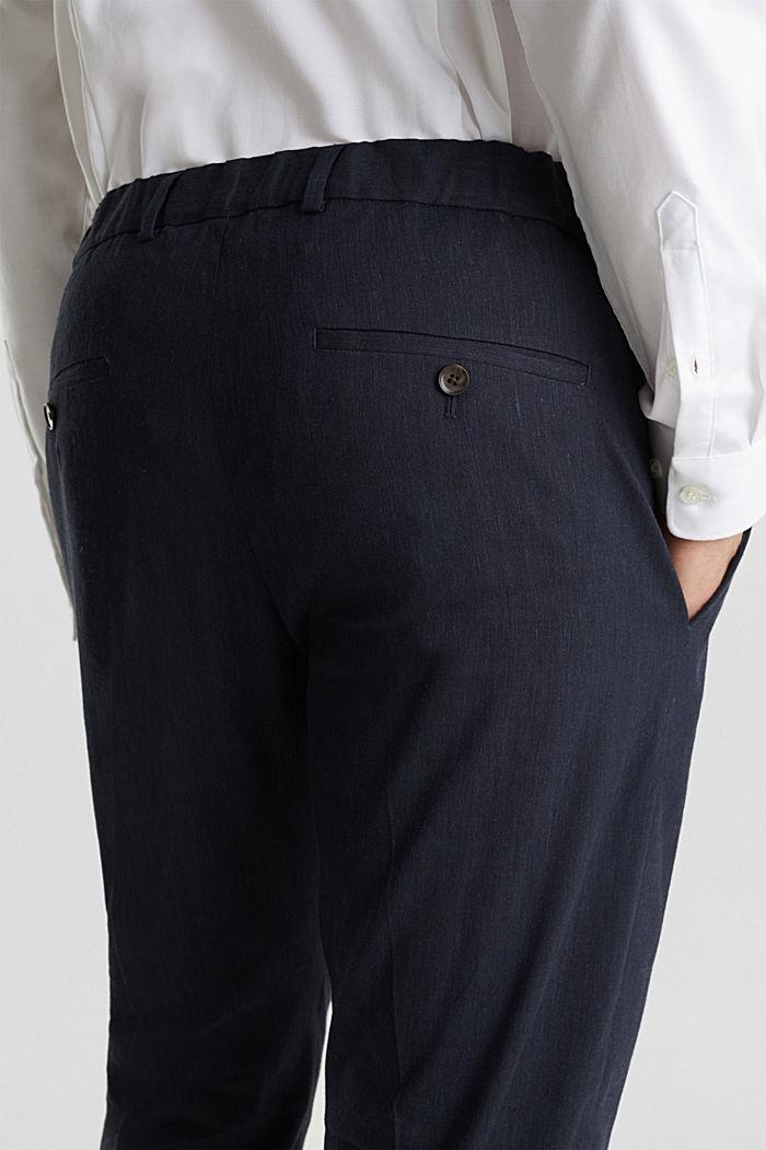LINEN Pellavasekoitetta: Mix + Match housut, DARK BLUE, detail image number 6