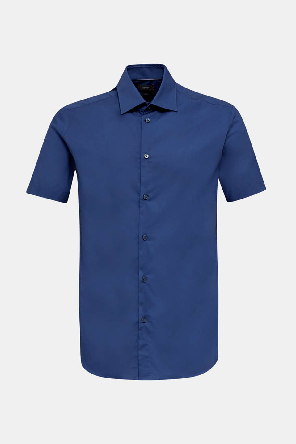 Shirt with mechanical stretch, 100% cotton, DARK BLUE, detail image number 6