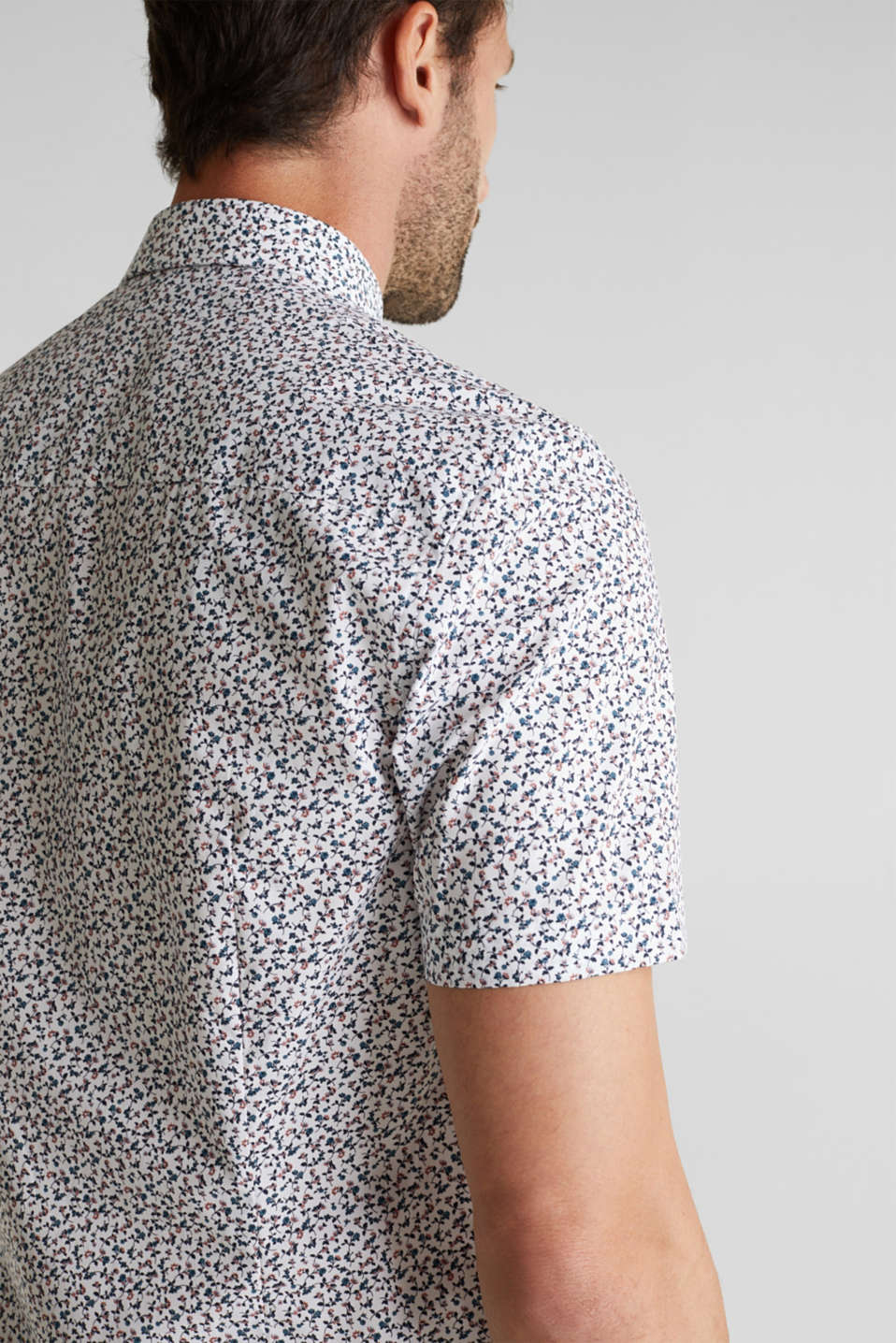Shirt with mechanical stretch, 100% cotton, WHITE 5, detail image number 2