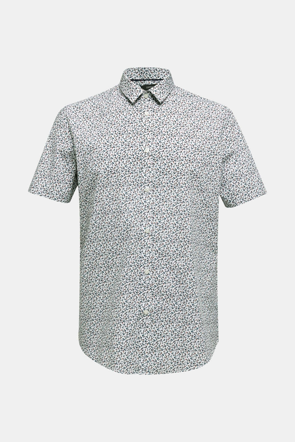 Shirt with mechanical stretch, 100% cotton, WHITE 5, detail image number 6