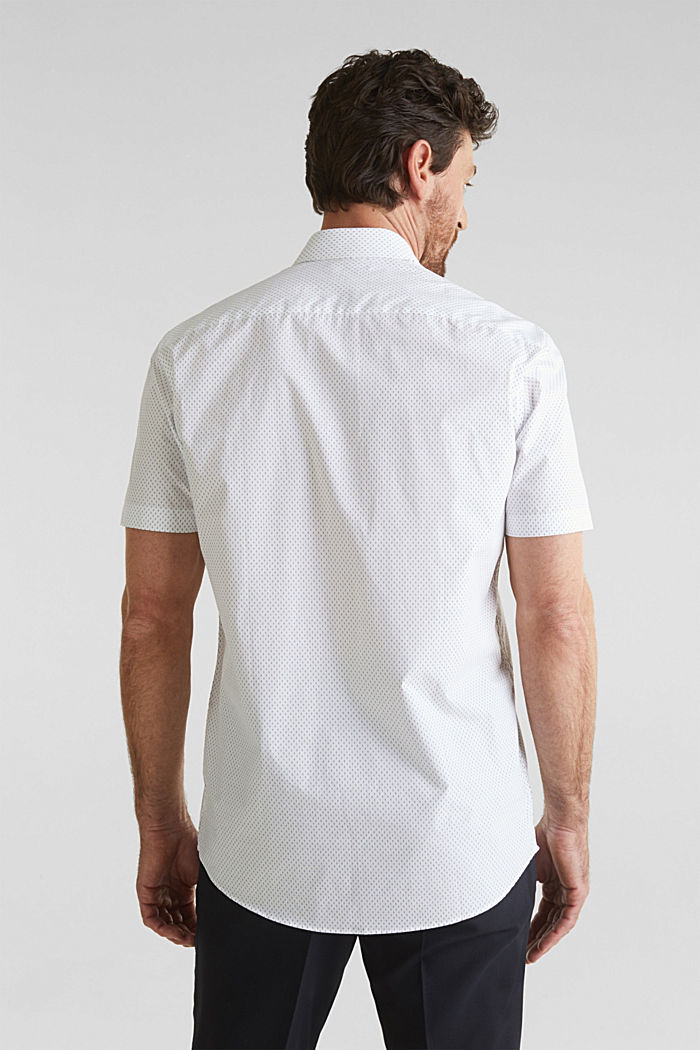 Shirt with mechanical stretch, 100% cotton, WHITE, detail image number 3