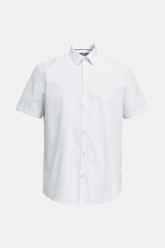 Shirt with mechanical stretch, 100% cotton, WHITE, detail image number 7