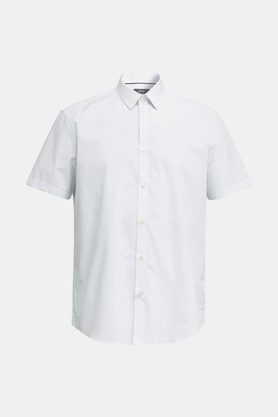 Shirt with mechanical stretch, 100% cotton, WHITE 4, detail image number 7