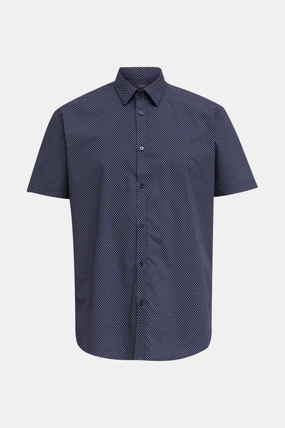 Shirt with mechanical stretch, 100% cotton, NAVY 4, detail image number 8