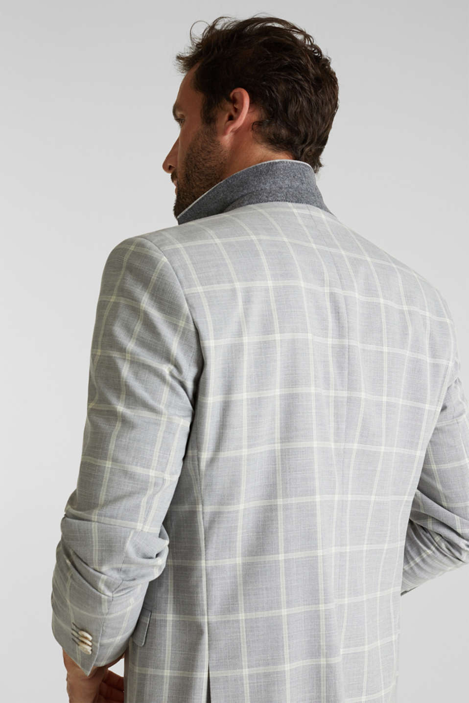 SUMMER CHECK mix + match tailored jacket, PASTEL GREEN 3, detail image number 3
