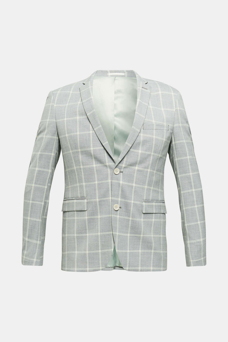 SUMMER CHECK mix + match tailored jacket, PASTEL GREEN 3, detail image number 6