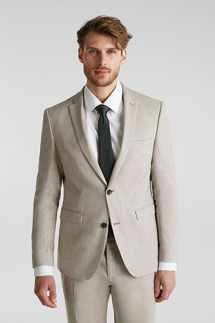 End-on-end linen blend jacket, SAND, detail image number 0