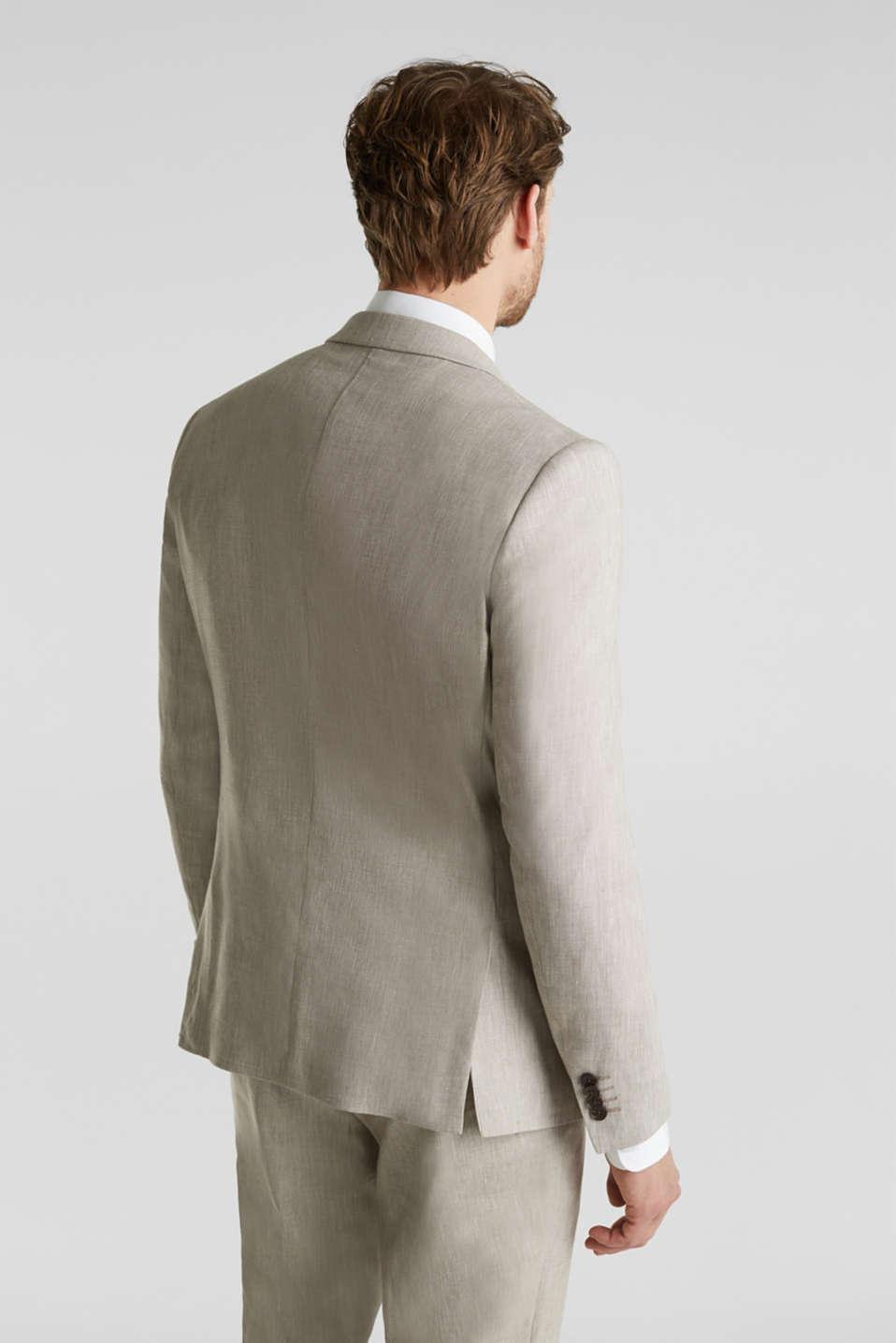 End-on-end linen blend jacket, SAND 5, detail image number 3