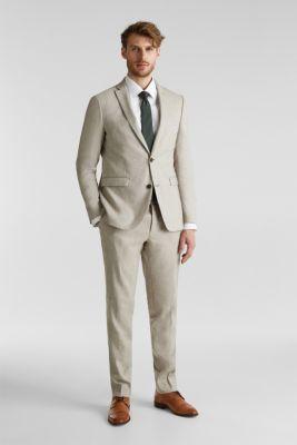 End-on-end linen blend jacket, SAND 5, detail