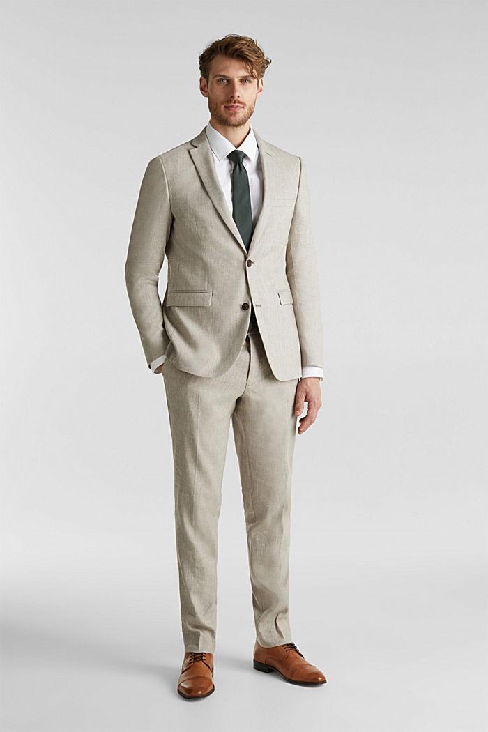 End-on-end linen blend jacket, SAND, detail image number 1