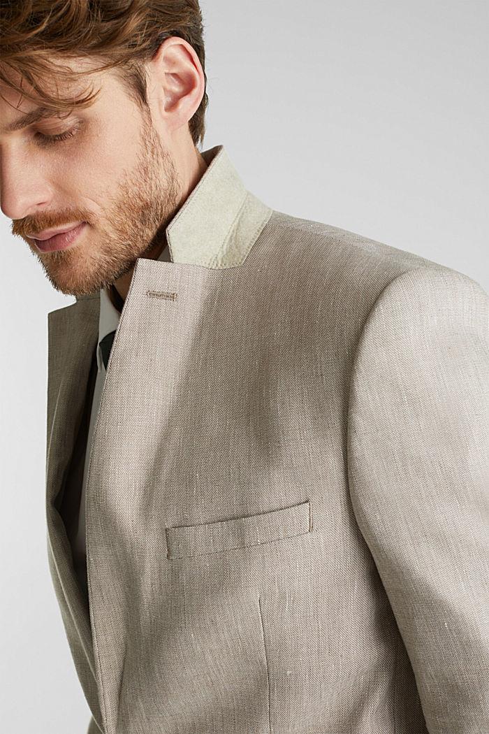 End-on-end linen blend jacket, SAND, detail image number 2