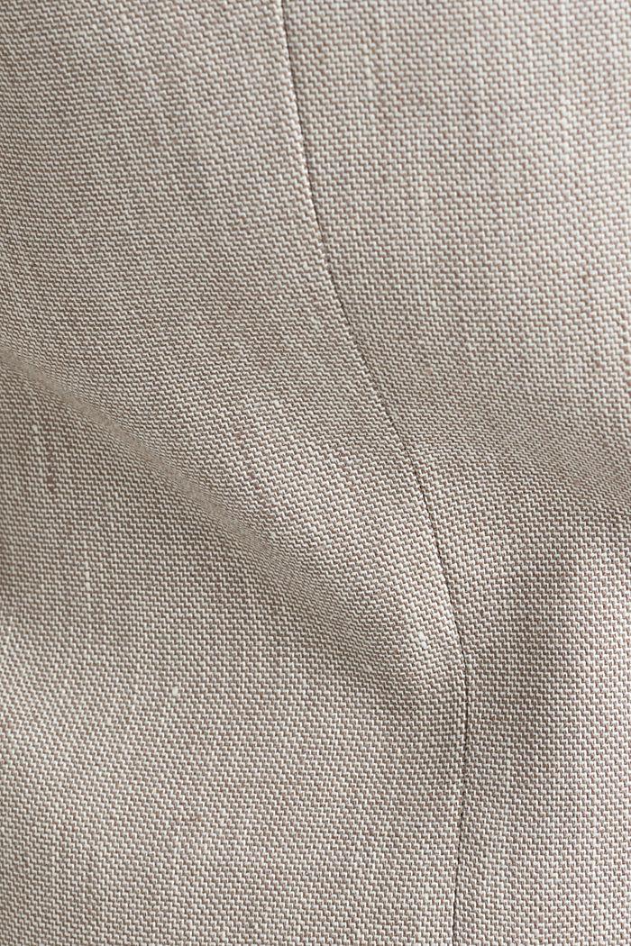 End-on-end linen blend jacket, SAND, detail image number 4