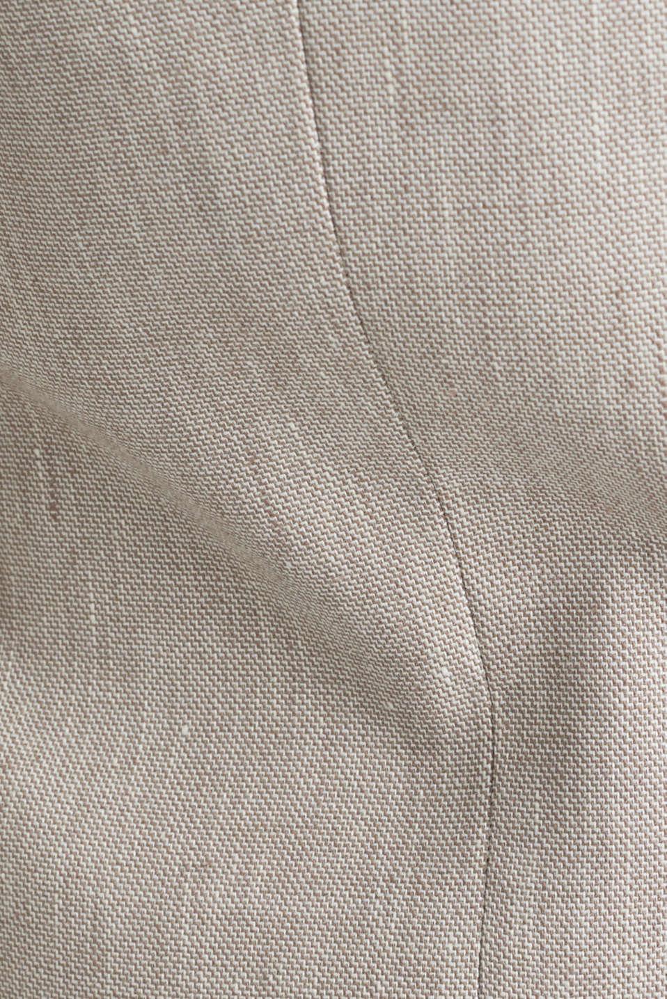 End-on-end linen blend jacket, SAND 5, detail image number 4