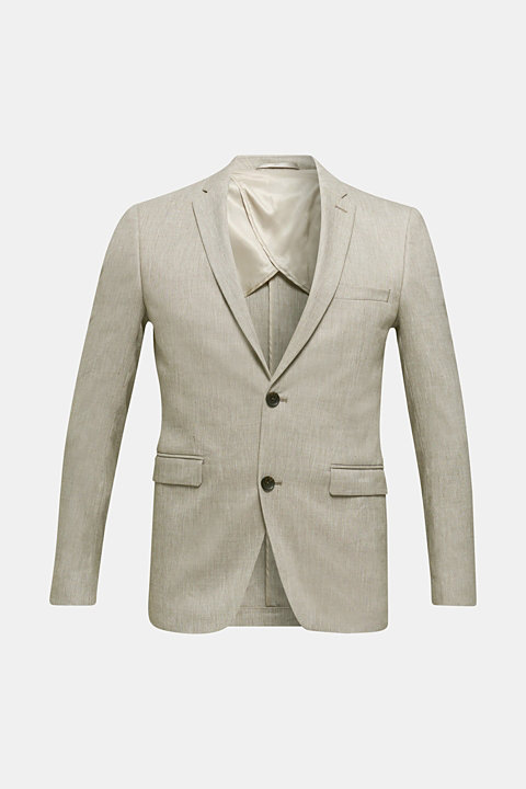 End-on-end linen blend jacket