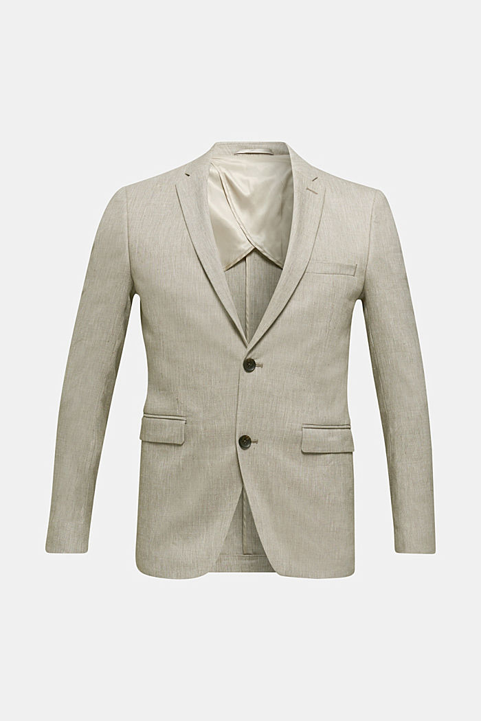 End-on-end linen blend jacket, SAND, detail image number 7