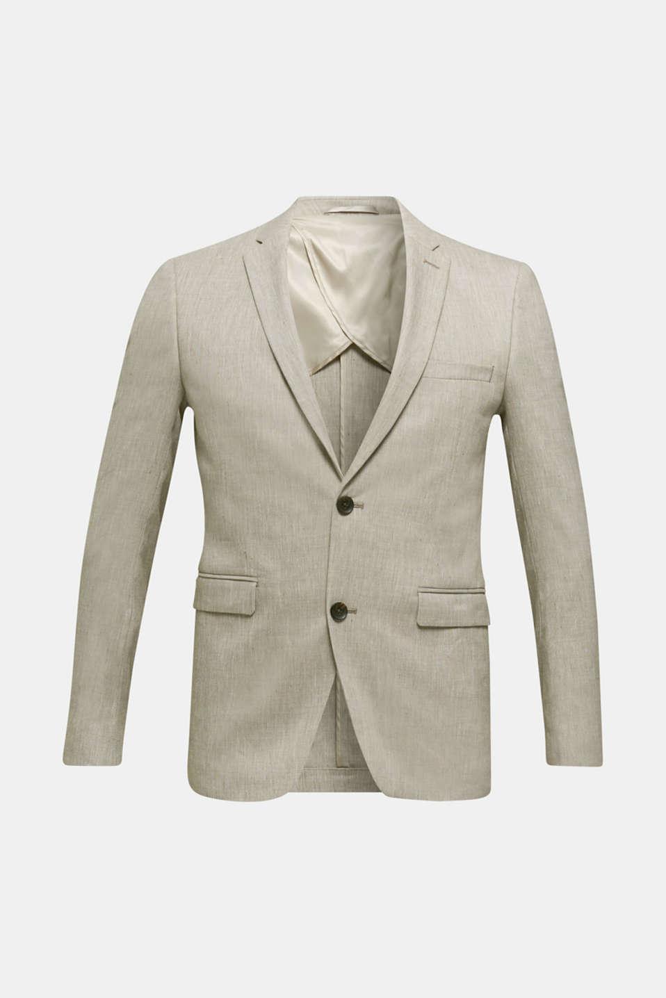 End-on-end linen blend jacket, SAND 5, detail image number 7