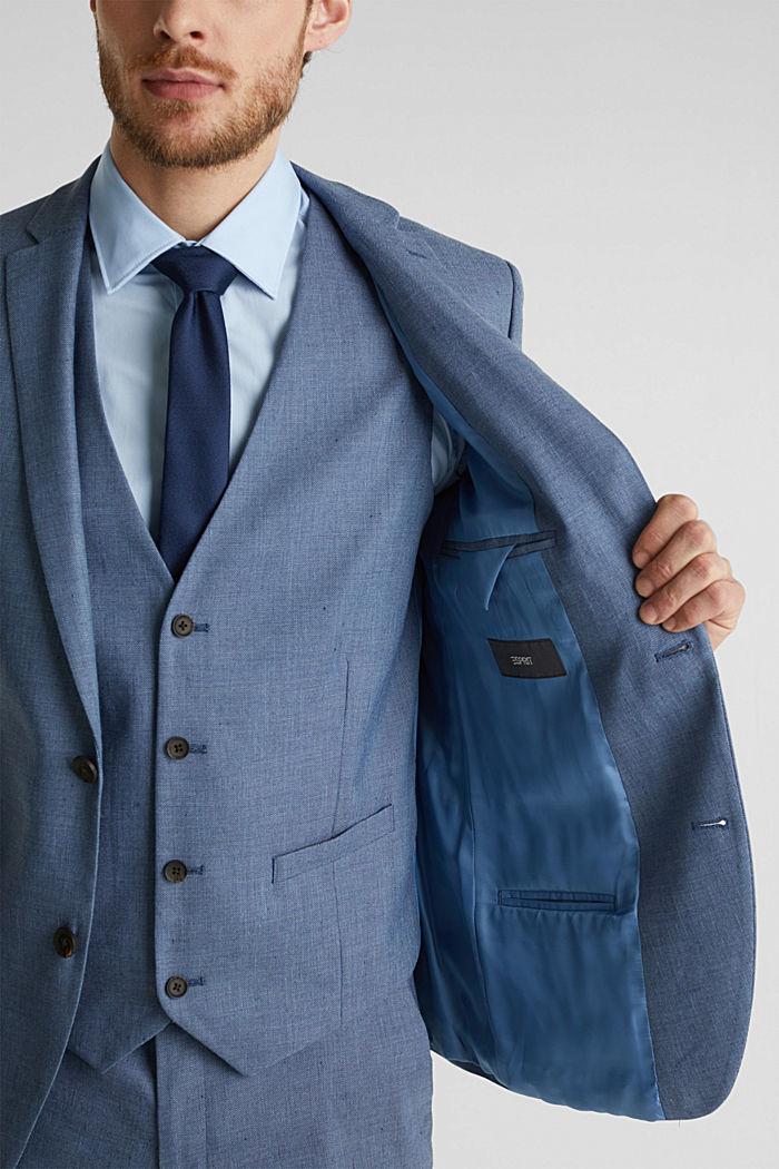 End-on-end linen blend jacket, BLUE, detail image number 5